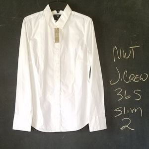 NWT J. Crew 365 Slim Fit White Button Shirt 2